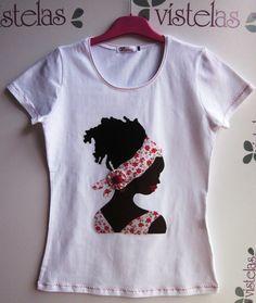 Camiseta africana manga corta
