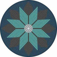 Scroll down for the English version. It's written in blue.           Tapestry crochet        Video tutorial, istruzioni scritte by ©oanao...