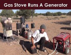 Gas Stove Runs A Generator - Homestead & Survival Alternative Health, Alternative Energy, Essential Oil Distiller, Essential Oils, Natural Gas Generator, Homestead Survival, Survival Tips, How To Make Oil, Gas Stove