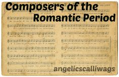 The Romantic Period, a time in history where composers wished to reduce their listeners to tears and melt their hearts, ran from around 1825 to To be honest, this was a tough week for me to … Romantic Period, Modern History, Composers, Hearts, Music Composers