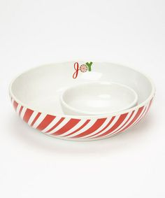 Red & White Snowman Dip Bowl & Spreader | Daily deals for moms, babies and kids