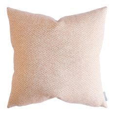 Free shipping With a delicate, yet universal pattern, the Ethel pillow's old brick color adds warmth and eye-catching appeal without being overwhelming. Made of 100% linen it carries that slightly textured feel, enhancing its design. Down insert not included.