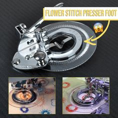 Sewing Machine Flower Stitch Embroidery Foot for Brother Singer Janome Sewing Basics, Sewing Hacks, Sewing Tutorials, Sewing Crafts, Basic Sewing, Diy Crafts, Quilting Tips, Machine Quilting, Machine Embroidery
