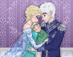 This is almost perfect!!!! If only Elsa looked a bit better, but other than that, I love it! Elsa, Jack and little Juliette <3