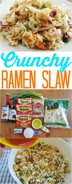 Crunchy Asian Ramen Slaw recipe from The Country Cook