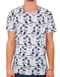 #Tshirt #Print #Palmtrees #Palmiers http://www.letagehomme.com/t-shirt-blanc-imprime-vahine-chester.html