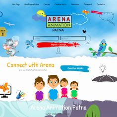 "Website Design of ""Arena Animation Patna"" #WebsiteDesign #WebDesign #Website #WebsiteDevelopment #WebDevelopment #Web #Website #Design #BrandDesign"