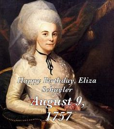 Sadly I didn't see this soon enough but Happy birthday Eliza Hamilton.