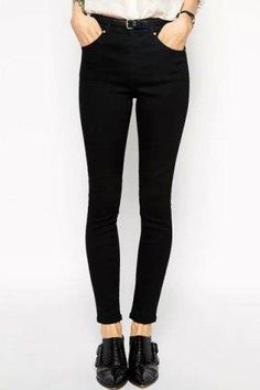 RoseGal.com - RoseGal High Waisted Slimming Solid Color Pants - AdoreWe.com