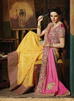 Wholesale Pink Georgette Fabulous Party Wear Designer Sarees Collection - Buy Now @ http://www.suratwholesaleshop.com/1027-Peerless-Georgette-Soft-Pink-Designer-Saree?view=catalog  #Suratwholesalesaree #Onlinewholesalesaree #Bulksaree