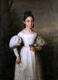 """Antonio Maria Esquivel, """"Portrait of Luisa de Borbón"""". Duquesa de Sessa"""