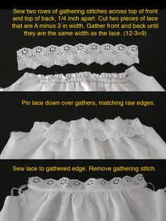 DIY Simple Lace Trimmed Blouse