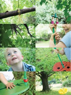 make your own simple, natural playground