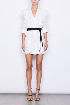 Miller Ruffle Shirt Dress