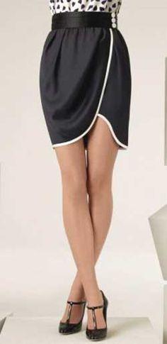Выкройка юбки с запахом - модель