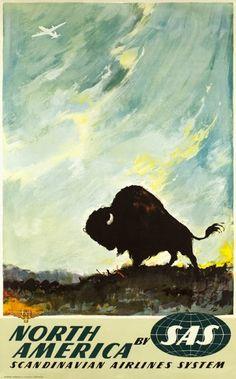 North America by SAS, Otto Nielsen, illustrator