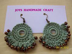 Crochet Bead Earrings