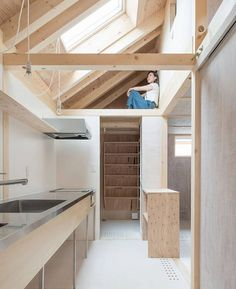 House in Shinkawa. House in Shinkawa is a minimalist residence located in Hokkaido Japan designed by Yoshichika Takagi Associates. Architecture Design, Japanese Architecture, Contemporary Architecture, Micro House, Tiny House, Japanese Interior, Wood Interiors, Japanese House, Interior And Exterior