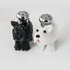 Scottie & Westie Salt & Pepper Shaker Set by Lucky Duck Glass – Harvest Gold Gallery