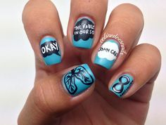 John Green's The Fault In Our Stars  #nail #nails #nailart♡ heck ya--for when I go see the movie, I'm going with nails, a tee shirt all of it!!!
