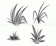 How to Draw Grass, Step by Step, Other, Landmarks & Places, FREE ...