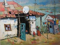 David Croitor, 1958 ~ Old street of Bucharest | Tutt'Art@ | Pittura * Scultura * Poesia * Musica |