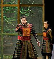 "Ken Howard/Metropolitan Opera  The tenor Bryan Hymel in the Metropolitan Opera production of the Berlioz epic ""Les Troyens"" on Wednesday night."