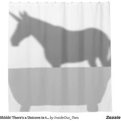 Shhhh! There's a Unicorn in the Bathtub Shower Curtain ($65) ❤ liked on Polyvore featuring home, bed & bath, bath and shower curtains