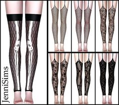 Real Stockings 7 designs by Jenni Sims for Sims 3