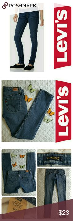 """👖Levi's 524 Too Superlow Skinny Jeans 👖 👖Medium wash 👖99% Cotton 👖1% Spandex 👖leg opening approx 11""""👖Front raise approx 8"""" 👖Size 7M 👖length is approx 38"""" from waist down 👖No tears, no stains,  clean condition,  shows minimal signs of wear around belt area *See images*  👖Reasonable offers accepted  👖See images for size chart or ask me anytime Levi's Jeans"""