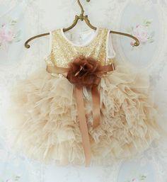 Gold Sequin Tutu Dress