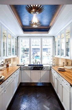 Long Narrow Kitchen Design Ideas, Pictures, Remodel, and Decor - page 2