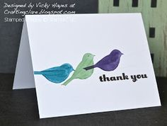 Stampin' Up ideas and supplies from Vicky at Crafting Clare's Paper Moments: One layer Morning Meadow birds on a wire