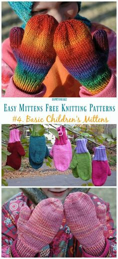Basic Children's Mittens Knitting Free Pattern - Easy Free P. Basic Children's Mittens Knitting Free Pattern - Easy Free P. Record of Knitting Wool rotating, we. Crochet Mittens Free Pattern, Crochet Gloves, Knit Mittens, Knitted Hats, Mitten Gloves, Toddler Knitting Patterns Free, Toddler Mittens, Easy Knitting, Knitting Wool