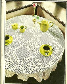 Crochet Filet - Page 126 of 182 - Patterns, Designs and Schemes Contemporary Building, Contemporary Design, Home Design Decor, House Design, Home Decor, Mantel Redondo, Small Tiles, Crochet Tablecloth, Filet Crochet