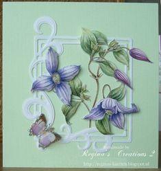 Een leuke kaart meteen clematis van de hand van Janneke S. Brinkman Gebruikte ma... Clematis, Order Photos, Card Making, Photo Gifts, Animation, Make It Yourself, How To Make, Cards, Beautiful