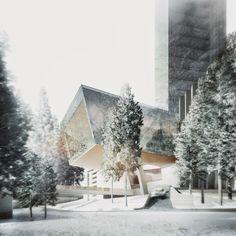 Design Hub - блог о дизайне интерьера, красивых домах, архитектуре, городской среде: Проект гостиницы-небоскреба в Альпах