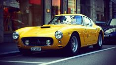 Ferrari yellow retro car wallpaper 1920x1080