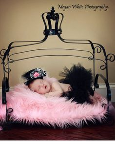 Pink Newborn Baby Girl Mongolian 3 Pile Faux Fur by EcoStreet, $21.99