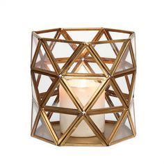 Geometric Brass Hurricane - Candles & Scents - Home Decoration - Home Accessories