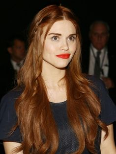Holland Roden @ Rebecca Minkoff Spring 2014 fashion show #NYFW #MBFW #backstage