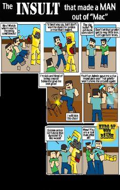 Minecraft comic Minecraft Comics, Lego Minecraft, Minecraft Party, Minecraft Stuff, Batman Universe, Make A Man, Comic Strips, Little Boys, Bullying