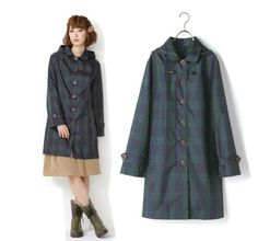 2014 de moda las mujeres lluvia capa niñas ropa impermeable, transpirable ligero de nylon poncho impermeable rainsuit wyy11 a cuadros(China (Mainland))