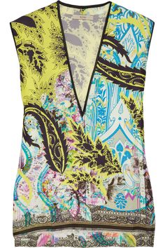 Etro_  http://www.lyst.com/clothing/etro-printed-silk-top-yellow/
