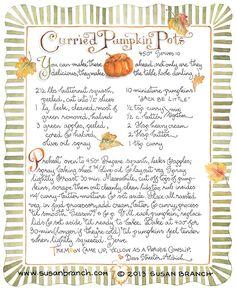 Susan Branch - Curried Pumpkin Pots
