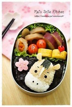 Horse bento. Fun food for blue collar worker. www.prairielectric.com