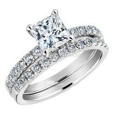 Wedding Band for Princess Cut Engagement Ring