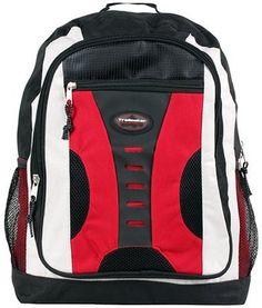 Multipurpose School Book Bag / Outdoor Backpack Dual Zippers ...