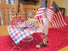 MINI Memorial Day centerpiece to delight my guests!