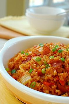 Spicy kimchee fried rice.  My hubby will love this.  Looking to make this tonight.
